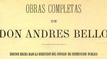 Obras Andres Bello