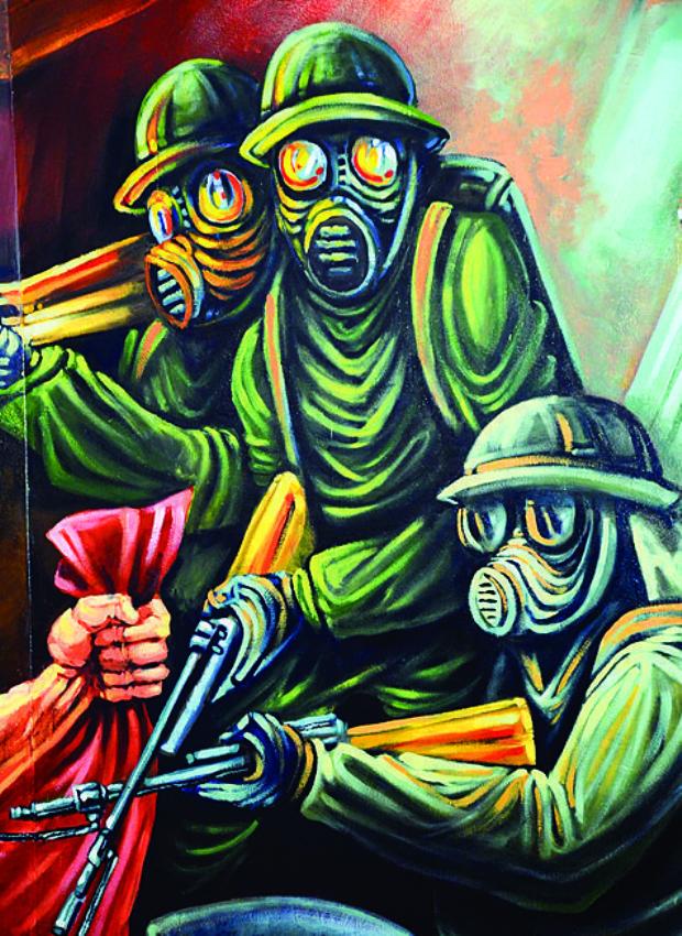 Un mural sobre la historia minera en el archivo nacional for Caracteristicas de un mural