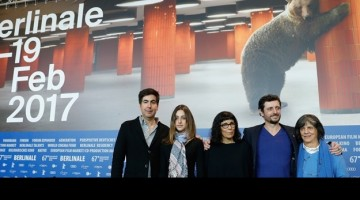 BERLIN, GERMANY - FEBRUARY 10:  (L-R) Screenwriter Beto Amaral, actress Luana Nastas, director Daniela Thomas, actor Adriano Carvalho and producer Sara Silveira attend the 'Vazante' photo call during the 67th Berlinale International Film Festival Berlin at Grand Hyatt Hotel on February 10, 2017 in Berlin, Germany.  (Photo by Andreas Rentz/Getty Images)