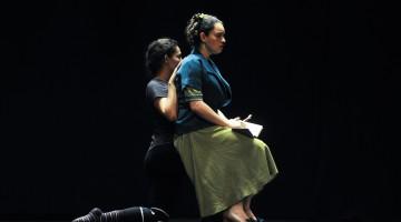 Teatro Nacional, Pasada general de La Ruta de su evasión, foto Rafael Murillo