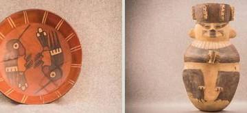 Piezas representativas de la tradición alfarera del Perú andino, incluidas en la exposición que alberga el recinto de Moneda 13, Centro Histórico. La muestra concluirá a comienzos de octubre