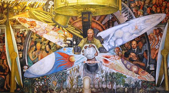 lucha del muralista comunista en tierras de rockefeller