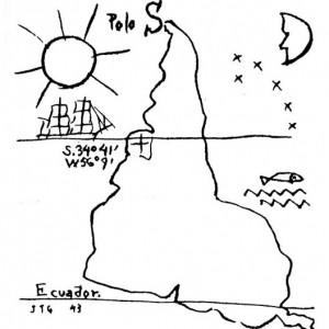 America-invertida-drawing-by-Joaquin-Torres-Garcia-1943